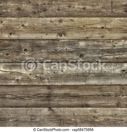Natural pine wood plank wall background square - csp58475956