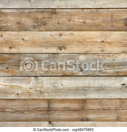 Natural pine wood wall background surface square - csp58475953