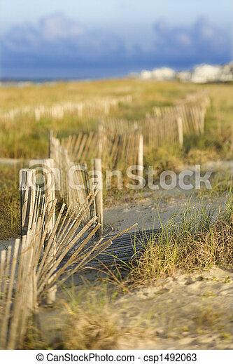 Zona de playa de arena natural. - csp1492063