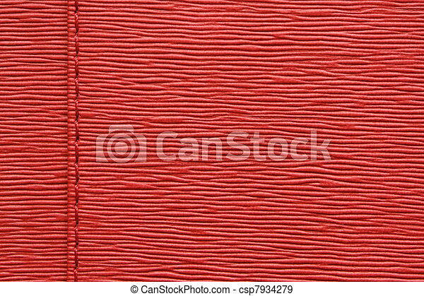 Natural red leather - csp7934279