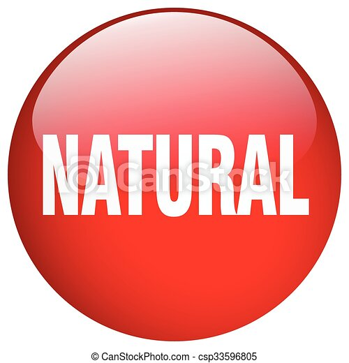 natural red round gel isolated push button - csp33596805