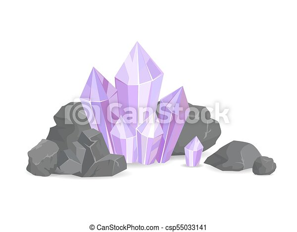 Natural Resources and Minerals Vector Illustration - csp55033141