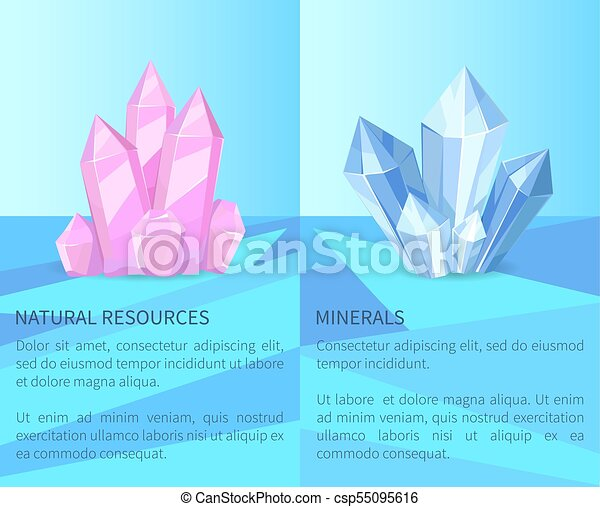 Natural Resources and Minerals Vector Illustration - csp55095616
