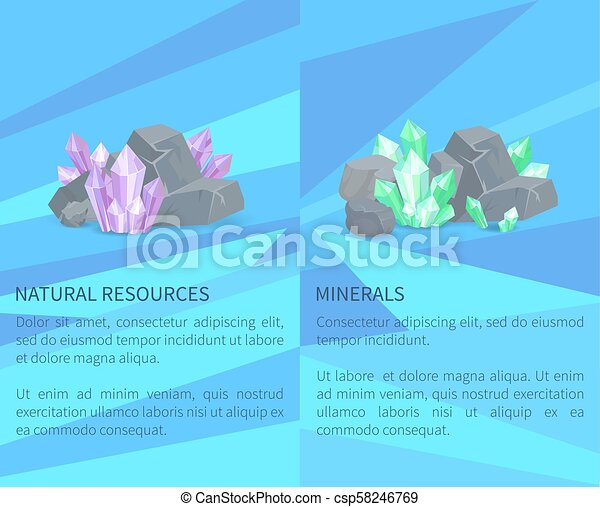 Natural Resources Minerals Among Rocks and Stones - csp58246769