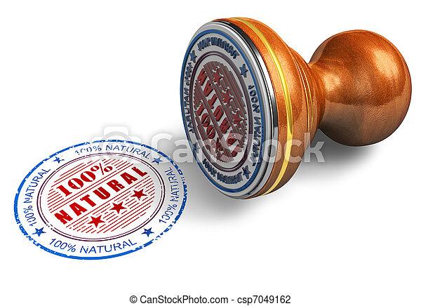 Natural stamp - csp7049162