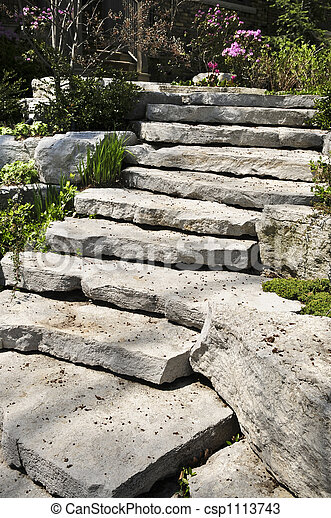 Natural stone landscaping - csp1113743