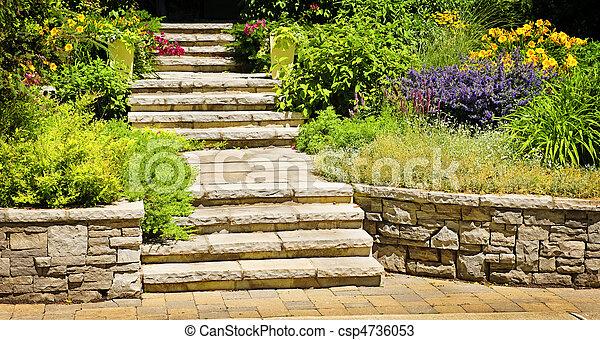 Natural stone landscaping - csp4736053