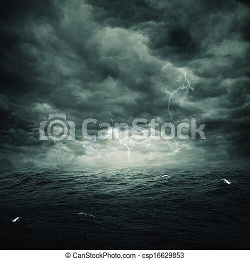 natural, tempestuoso, abstratos, fundos, desenho, oceânicos, seu - csp16629853