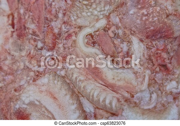 natural texture from a piece of pork headcheese - csp63823076