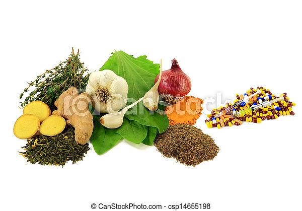 Natural versus Pharmaceutical Antibiotics   - csp14655198