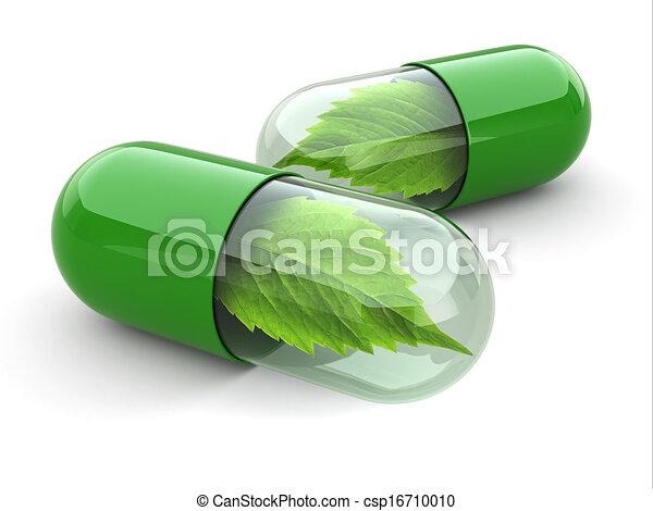 Natural vitamin pills. Alternative medicine. - csp16710010