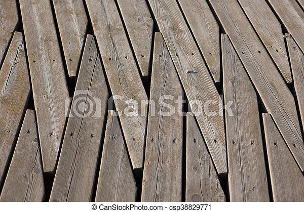 Natural wooden panel floor background - csp38829771