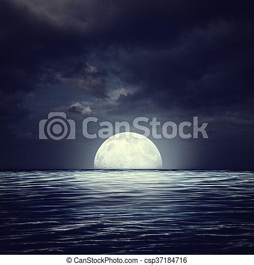 Naturale Tempestoso Astratto Notte Sfondi Superficie Mare