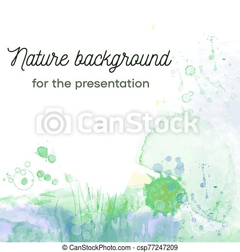 Nature abstract background with plants and herbs for the card and presentation. Vector illustration - csp77247209