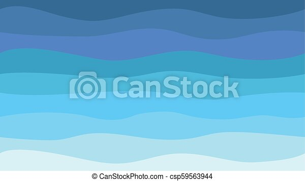 Nature Abstract Sea Background Hd Blue Waves Modern Seamless Pattern