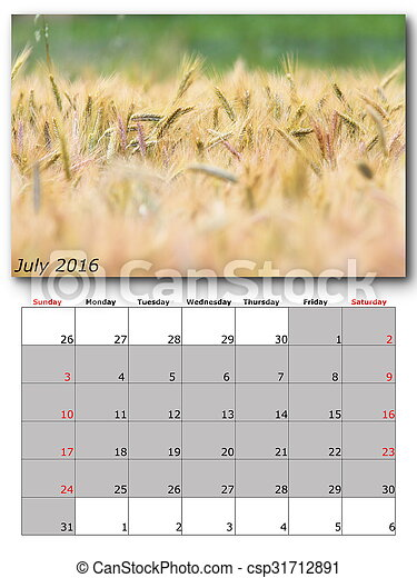 nature calendar july - csp31712891