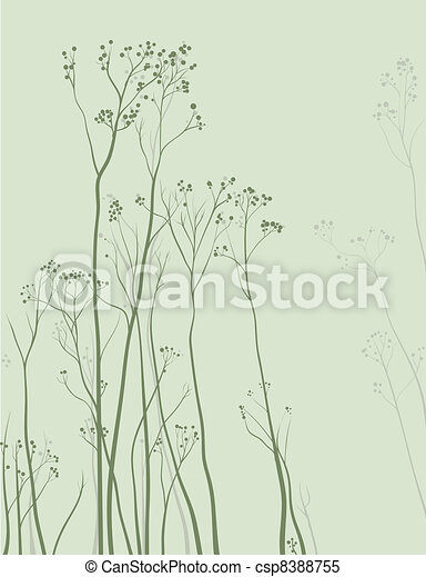 Nature Delicate Herbal background - csp8388755