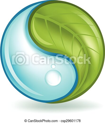 Nature Elements Yin Yang - csp29601178