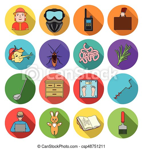 nature, entertainment, hobbiesand other web icon in flat style. diplomacy, business, ecology icons in set collection. - csp48751211