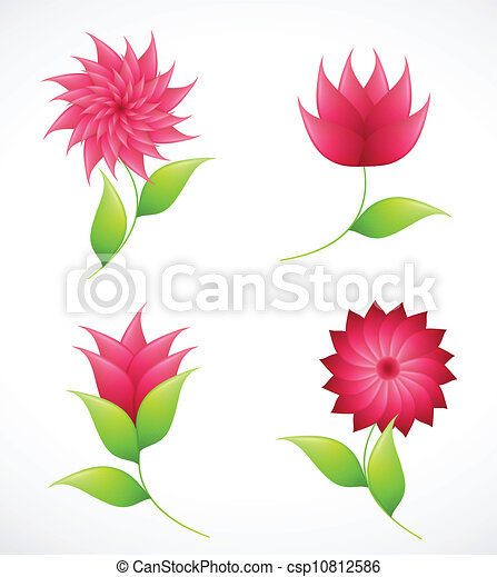 Nature flowers for design. Vector - csp10812586