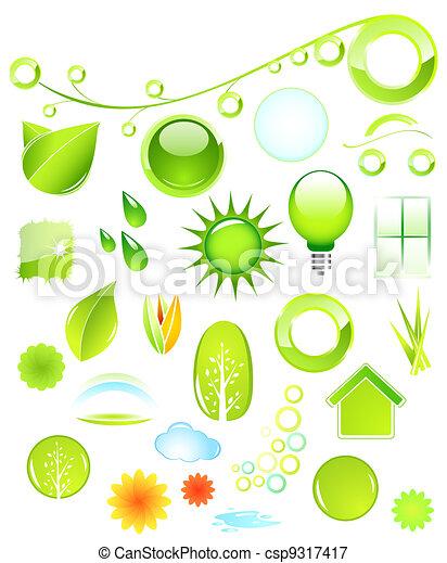 Nature icons - csp9317417