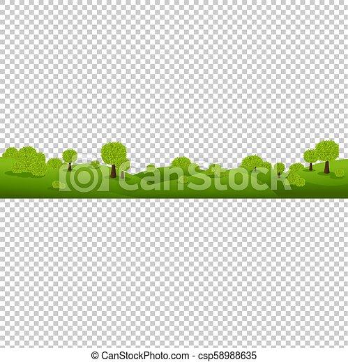 nature, isolé, arrière-plan vert, transparent, paysage - csp58988635