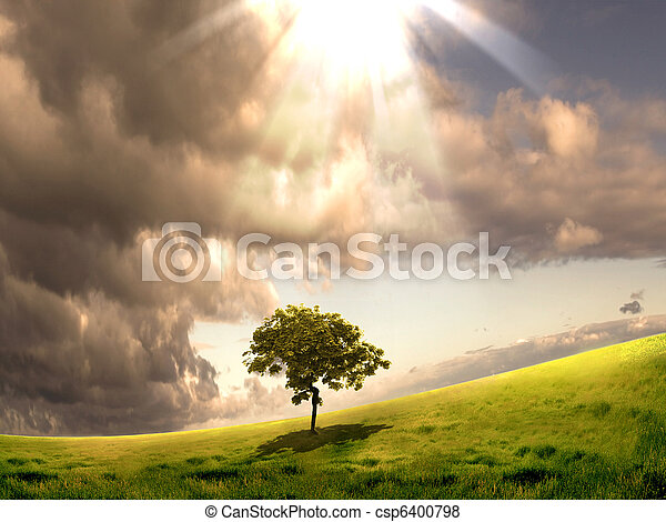 nature landscape with clouds - csp6400798