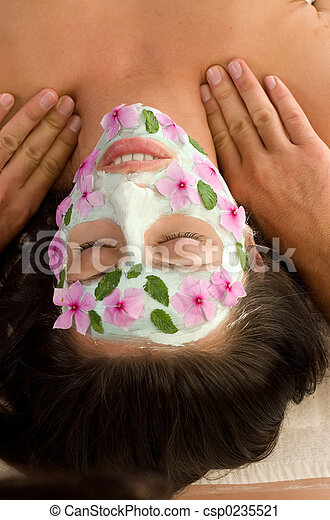 Nature Mask and Massage - csp0235521