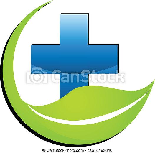 Nature medicine symbol logo - csp18493846
