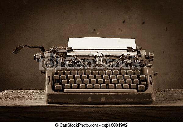 nature morte, écrivain, type - csp18031982