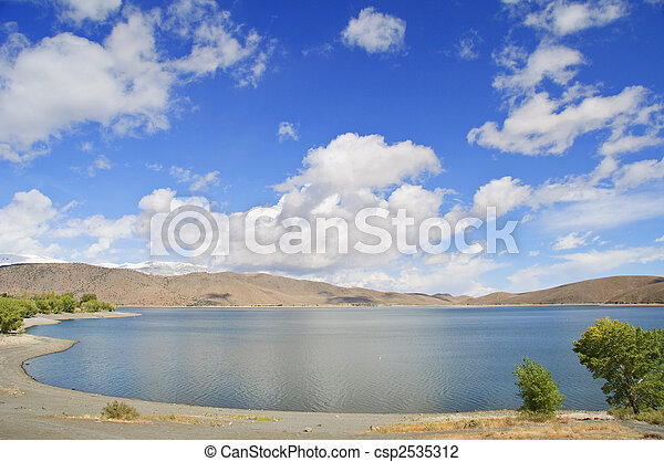 nature outdoor landscape with blue sky and clouds - csp2535312