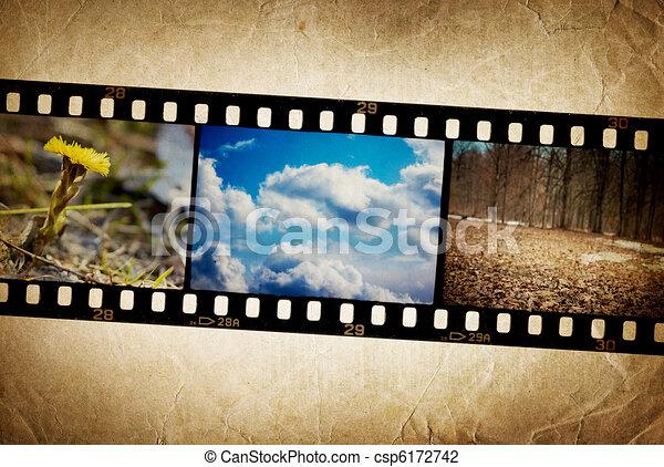 Nature photo with film strip on vintage background clip art nature photo with film strip on vintage background voltagebd Image collections