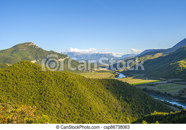 Nature, summer landscape in albanian mountains - csp86738063