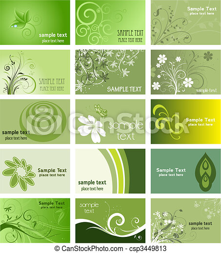 Nature themed business cards - csp3449813