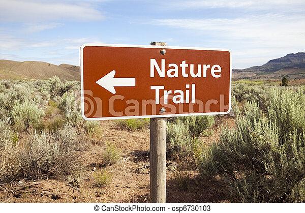 Nature Trail Sign in Remote Area - csp6730103