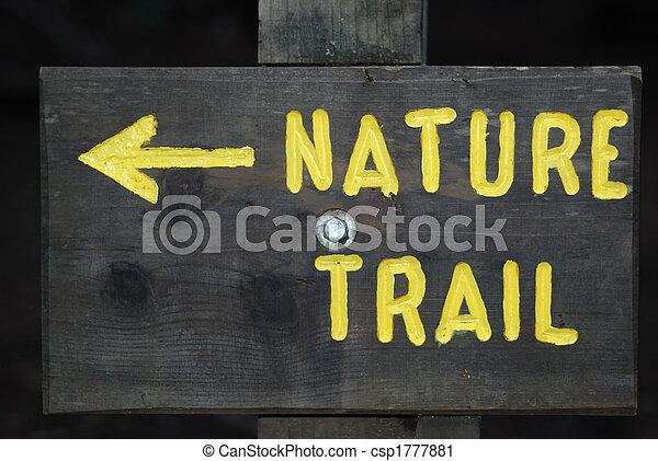 Nature Trail Sign - csp1777881