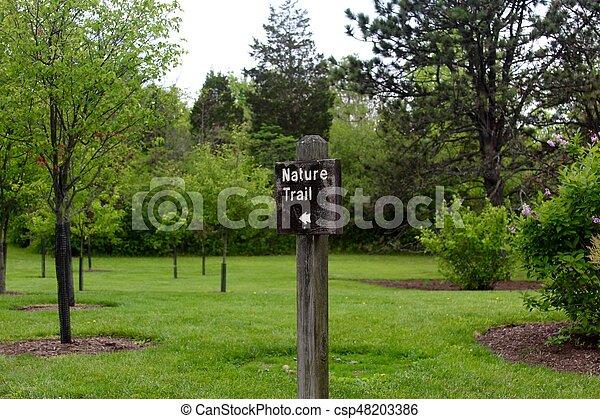 Nature Trail Sign - csp48203386