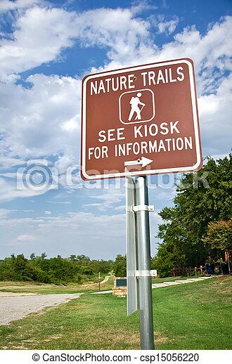 Nature trail sign - csp15056220