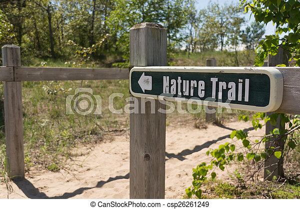 Nature Trail Sign - csp26261249