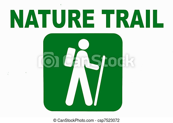 Nature trail sign - csp7523072