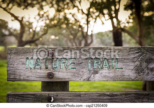 Nature Trail Sign - csp21250409