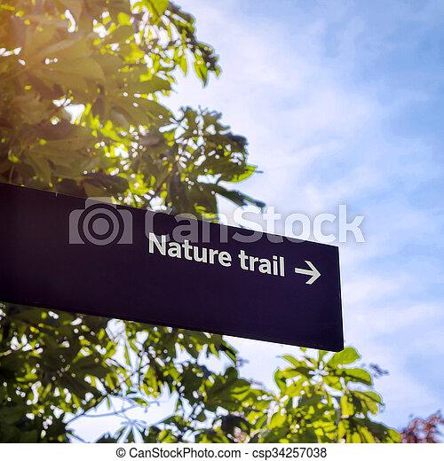 Nature Trail Sign - csp34257038