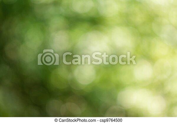 naturel, brouillé, vert, arrière-plan. - csp9764500