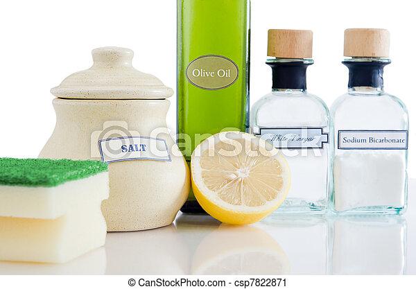 naturel, produits, nettoyage, non-toxic - csp7822871