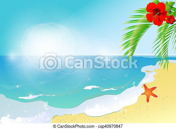 natureza, praia - csp40970847