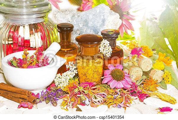 naturopathy, aromatherapy, leven, nog - csp15401354