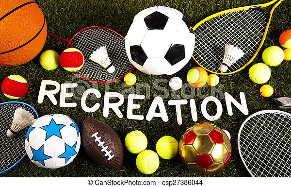 natuurlijke , kleurrijke, spel, uitrusting, sporten, toon - csp27386044