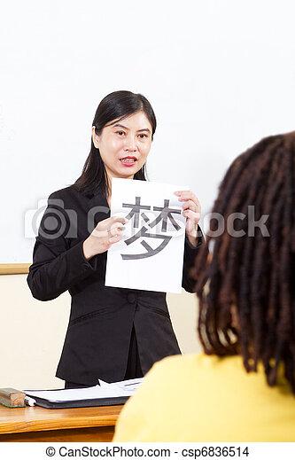 nauczanie, chińczyk, nauczyciel, język - csp6836514