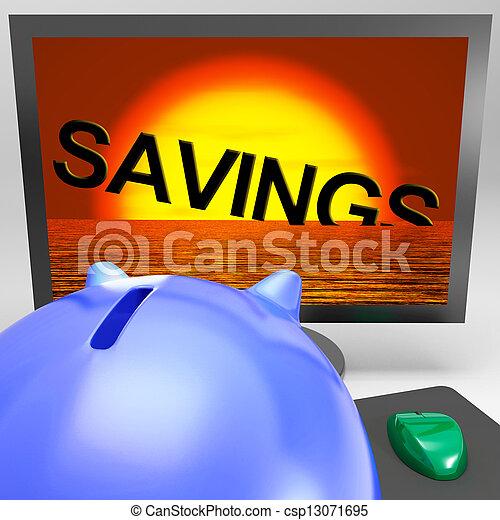 naufrage, perte, moniteur, projection, monétaire, économies - csp13071695