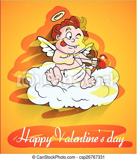 Naughty Cupid Character - csp26767331